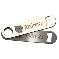 Hipster Cats Bar Bottle Opener w/ Name or Text