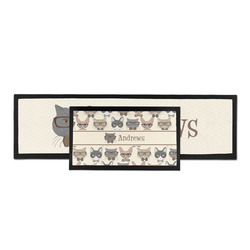 Hipster Cats Bar Mat (Personalized)