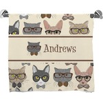 Hipster Cats Bath Towel (Personalized)
