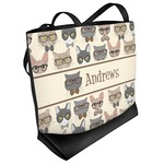 Hipster Cats Beach Tote Bag (Personalized)