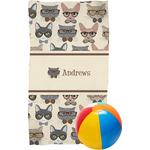 Hipster Cats Beach Towel (Personalized)