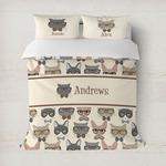 Hipster Cats Duvet Cover (Personalized)