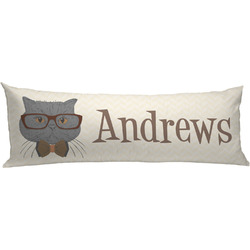 Hipster Cats Body Pillow Case (Personalized)