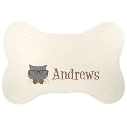 Hipster Cats Bone Shaped Dog Food Mat (Personalized)