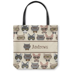 Hipster Cats Canvas Tote Bag (Personalized)