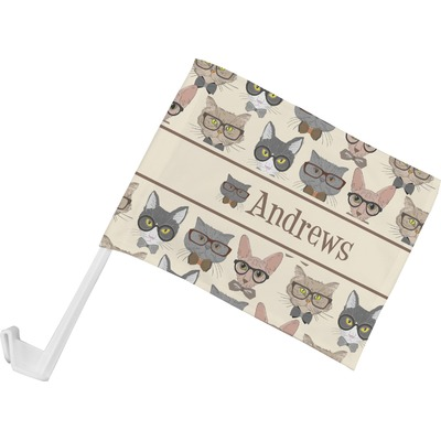 Hipster Cats Car Flag (Personalized)