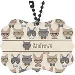 Hipster Cats Rear View Mirror Charm (Personalized)