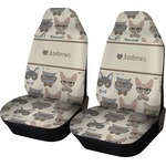 Hipster Cats Car Seat Covers (Set of Two) (Personalized)