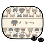 Hipster Cats Car Side Window Sun Shade (Personalized)
