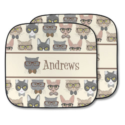 Hipster Cats Car Sun Shade - Two Piece (Personalized)