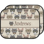 Hipster Cats Car Floor Mats (Back Seat) (Personalized)