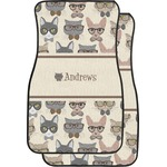 Hipster Cats Car Floor Mats (Front Seat) (Personalized)