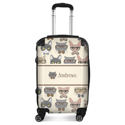 """Hipster Cats Suitcase - 20"""" Carry On (Personalized)"""