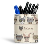 Hipster Cats Ceramic Pen Holder