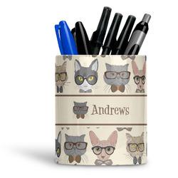 Hipster Cats Ceramic Pen Holder