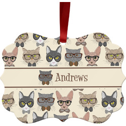 Hipster Cats Ornament (Personalized)
