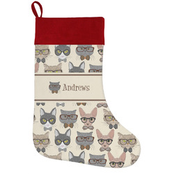 Hipster Cats Holiday / Christmas Stocking (Personalized)