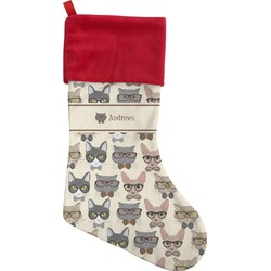 Hipster Cats Christmas Stocking (Personalized)