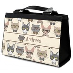 Hipster Cats Classic Tote Purse w/ Leather Trim (Personalized)