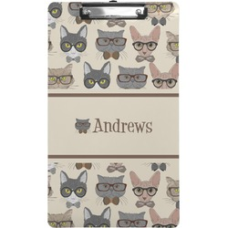Hipster Cats Clipboard (Legal Size) (Personalized)