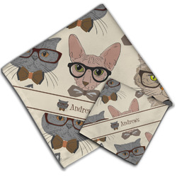 Hipster Cats Cloth Napkin w/ Name or Text
