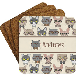 Hipster Cats Coaster Set (Personalized)