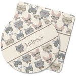 Hipster Cats Rubber Backed Coaster (Personalized)