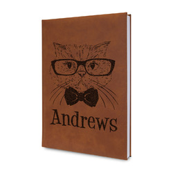 Hipster Cats Leatherette Journal (Personalized)
