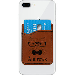 Hipster Cats Leatherette Phone Wallet (Personalized)