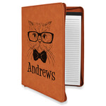 Hipster Cats Leatherette Zipper Portfolio with Notepad (Personalized)