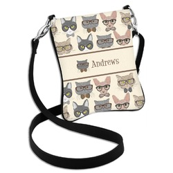 Hipster Cats Cross Body Bag - 2 Sizes (Personalized)