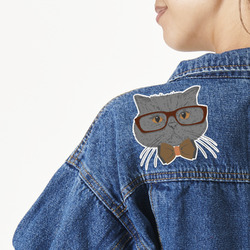 Hipster Cats Large Custom Shape Patch (Personalized)