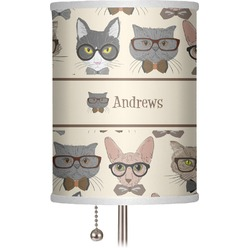 """Hipster Cats 7"""" Drum Lamp Shade (Personalized)"""