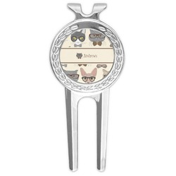 Hipster Cats Golf Divot Tool & Ball Marker (Personalized)