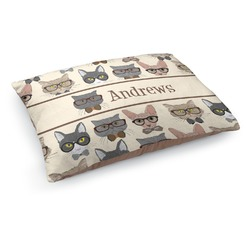 Hipster Cats Dog Pillow Bed (Personalized)