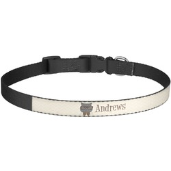 Hipster Cats Dog Collar - Large (Personalized)