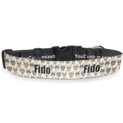 Hipster Cats Deluxe Dog Collar (Personalized)