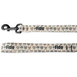 Hipster Cats Deluxe Dog Leash (Personalized)