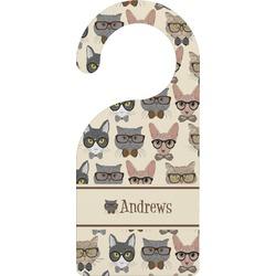 Hipster Cats Door Hanger (Personalized)