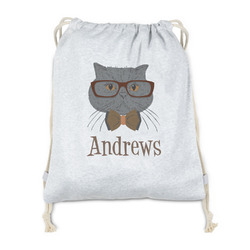 Hipster Cats Drawstring Backpack - Sweatshirt Fleece (Personalized)