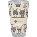 Hipster Cats Drinking / Pint Glass (Personalized)