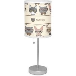 "Hipster Cats 7"" Drum Lamp with Shade (Personalized)"