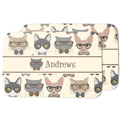 Hipster Cats Dish Drying Mat (Personalized)