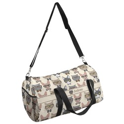Hipster Cats Duffel Bag (Personalized)
