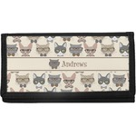 Hipster Cats Canvas Checkbook Cover (Personalized)