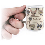 Hipster Cats Espresso Cups (Personalized)