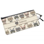 Hipster Cats Genuine Leather Eyeglass Case (Personalized)