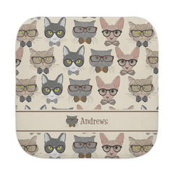 Hipster Cats Face Towel (Personalized)