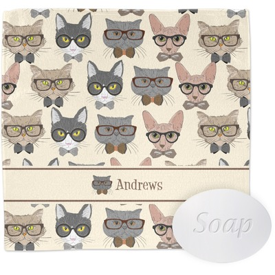 Hipster Cats Wash Cloth (Personalized)