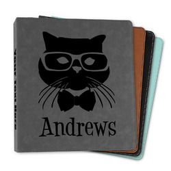 """Hipster Cats Leather Binder - 1"""" (Personalized)"""